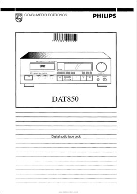User Manual: DAT850.PDF