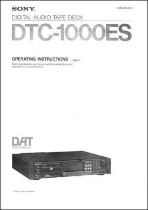 User Manual: DTC-1000ES.PDF