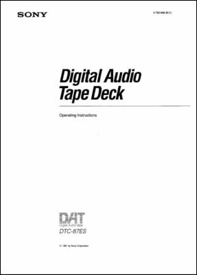 User Manual: DTC-87ES.PDF
