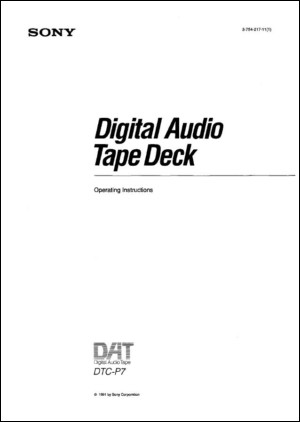 User Manual: DTC-P7.PDF