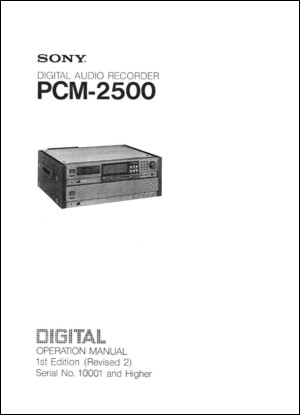 User Manual: PCM-2500.PDF