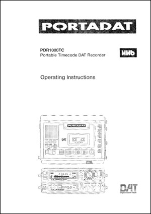 User Manual: PDR1000.PDF