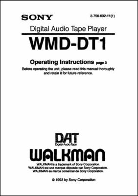 User Manual: WMD-DT1.PDF