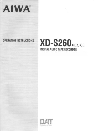 User Manual: XD-S260.PDF