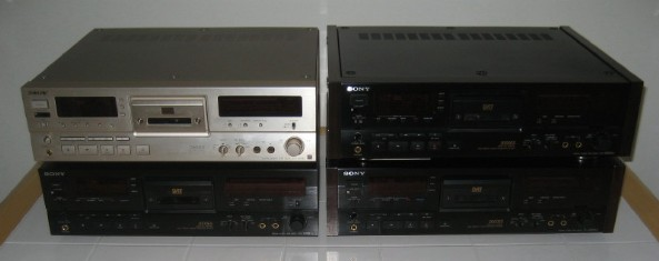 A collection of Sony DTC-2000ES DAT recorders.
