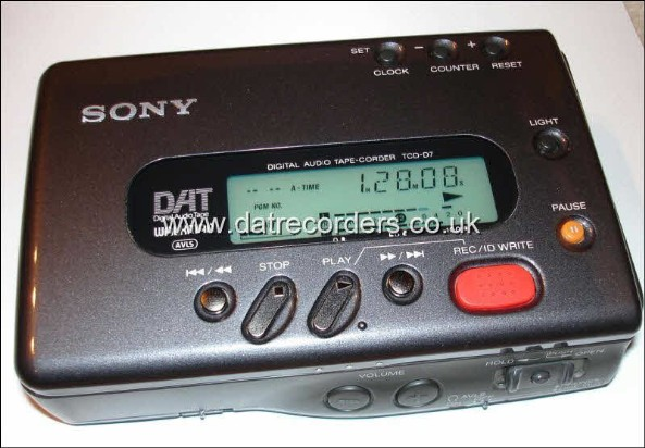 Sony TCD-D7 Portable DAT recorder