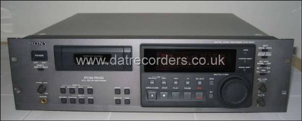 Sony PCM-R500 Professional DAT Recorder